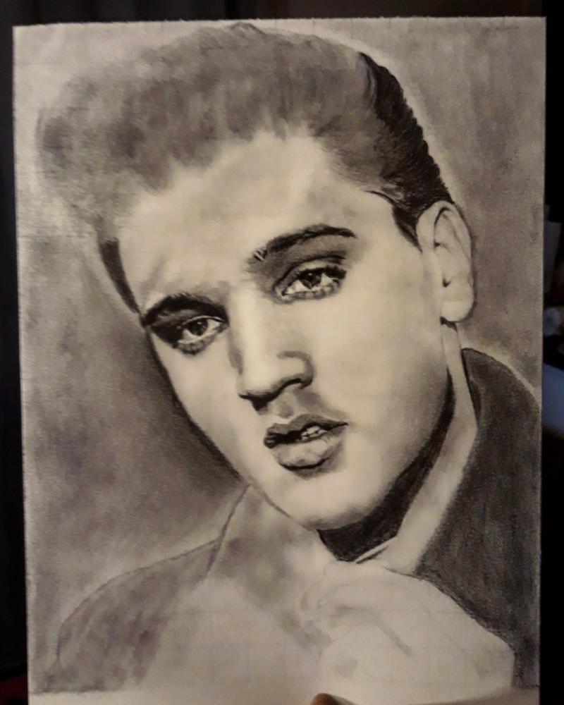Elvis Presley by OuyaArt